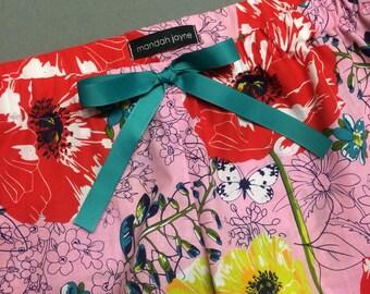 Pink Floral - Womens Mini Sleep Shorts