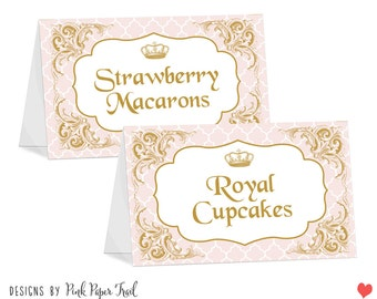 Princess Party Table Tent Cards - Blank Cards - Instant Download - Print Your Own