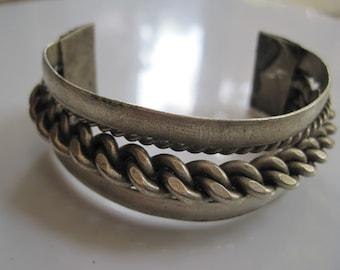 Bedouin Cuff Bracelet - Egyptian Jewelry - Twist Rope Bracelet - Tribal Jewelry - Ethnic Jewelry