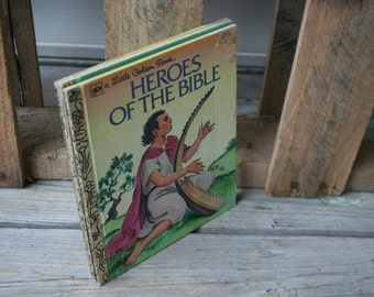 Set of Three Vintage Bible Story Little Golden Books - Instant Collection - Children's Books