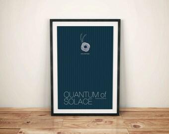 James Bond inspired Spy Film Print - 13x19 Minimalist Quantum of Solace Movie Poster