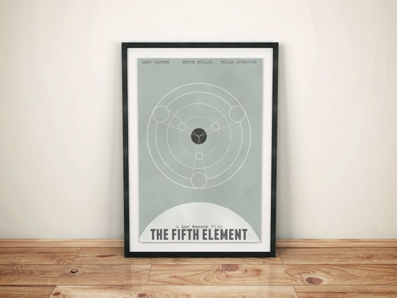 Planetary Alignment // The Fifth Element Alternate Movie Poster // Vintage Alignment Chart Illustration