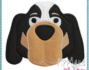 Hound Dog Applique Design