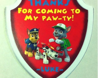 PAW PATROL Birthday Party Favor Gift Tags