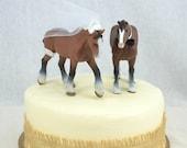 Horse Wedding Cake Topper Western Wedding Cake Topper Country Wedding Cake Topper Horses Clydesdale Wedding Cake Decoration by SheriSewSweet