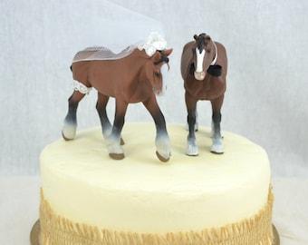 Horse Wedding Cake Topper, Western Wedding Cake Topper, Country Wedding Cake Topper, Clydesdale Wedding Cake Decoration, Riding Cake Topper