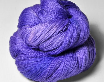 Periwinkle explosion OOAK - Merino/Silk/Cashmere Fine Lace Yarn