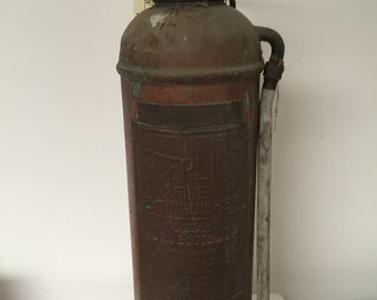 Vintage Sterling  Fire Extinguisher in Copper
