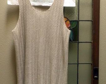 Women's knit tank top, Ecru color, Size 2X