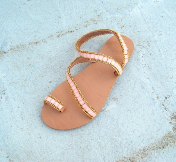 HALF PRICE SALE! Leather sandals pink