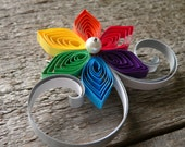 Rainbow Boutonniere, Rainbow Wedding, Multi-Colored Flower Lapel Pin