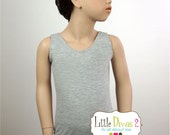 Heather Grey Leotard (Child) Grey Tank Leotard