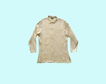 Yellow swinging 1960s Nehru jacket size L