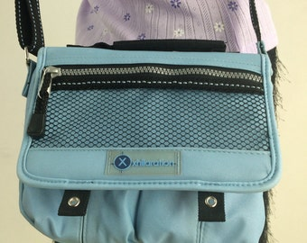 90's Baby Blue Nylon Sporty Spice Crossbody Purse
