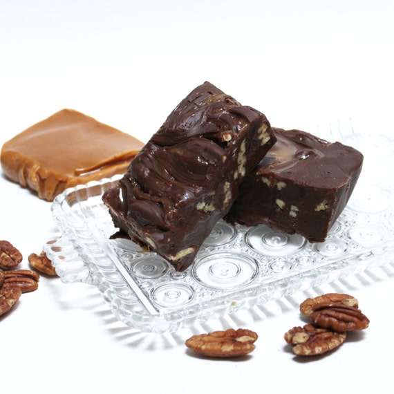 Turtle Fudge, 1 pound of gooey caramel, chocolate and pecans