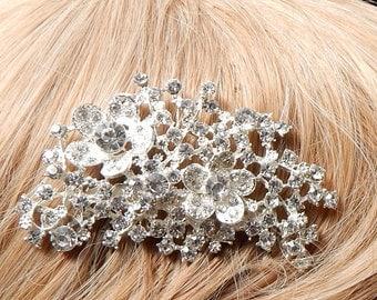 Bridal Rhinestone hair comb,Decorative hair comb,Rhinestone decorative hair comb,Wedding haircomb,Bridal headpiece,Bridal hair piecee