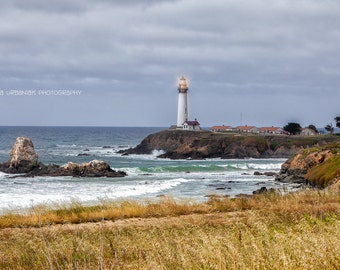 Lighthouse California Coast Landscape Photography Cliffs Ocean scenic drive  home decor  Fine Art Photography Print