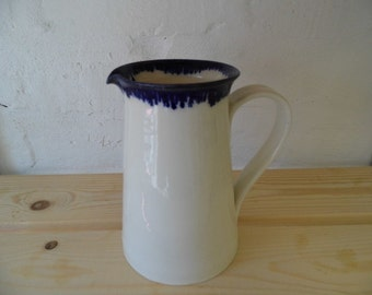 Tall porcelain jug