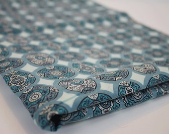 Vintage Aqua Medallion Fabric