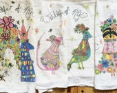 Wildlife of NYC: Set of 4 Tea Towels