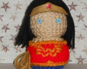 Wonder Woman Amigurumi Doll