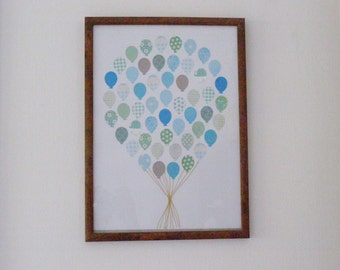 Balloon Bouquet / Nursery Wall Art / Nursery Art / Game Room Decor / Kids Wall Art / Baby Shower Gift / New Baby Gift / Nursery Decor /