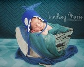 BABY SHARK HAT, upcycled Felted Wool Baby Shower Gift or Photography Prop for Newborn baby