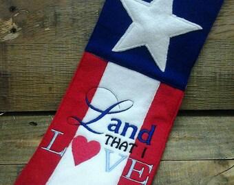 Land that I love felt American flag patriotic  banner