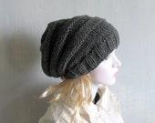 knit hat slouchy women men beanies style hat Slouch Beanie Hat  Large knit hat knit hat beanie chunky knit hat winter hat Hand Knit Hat