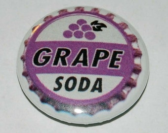 Grape Soda Button Badge 25mm / 1 inch Up Bottle Cap