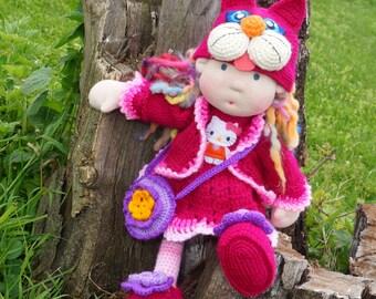 "SALE Waldorf knitted doll Radka 15"""