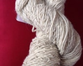 Cream/tan Navajo Churro yarn sports weight wool handmade yarn