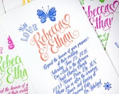 Celebrate! Letterpress Wedding Suite LP-PEN-03