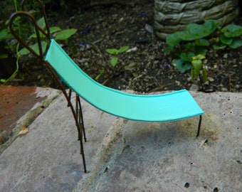 Fairy Garden Slide Miniature for terrarium or mini Garden Furniture Fairy Playground Robins Egg Blue Slide
