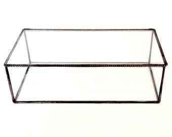 5 x 10 x 3, Glass Display Box,  Minimalist Keepsake Box