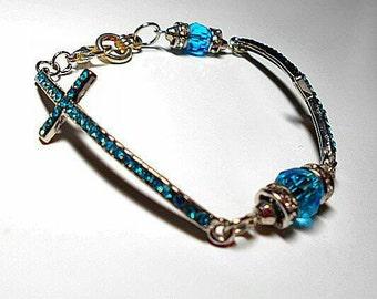 Sale Posh Cobalt Blue Iridescent Beaded Stretch By