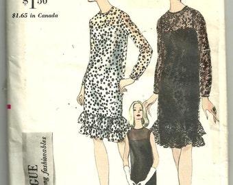 Vintage 60's VOGUE 6635 evening Dress pattern Sz 12
