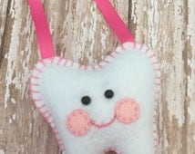 Tooth Fairy Pillows WITH Letter Your choice of color WITH a custom hanging ribbon