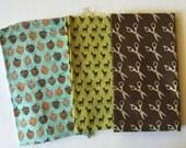 Destash Fabric Lot - Acorn Fabric - Moda Scissor Fabric - Deer Fabric - Mixed Cotton Fabrics