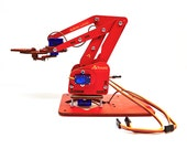 ArmUno Deluxe Robotic Arm Kit - Arduino and MeArm Compatable - Includes Laser Cut Parts - Servo Motors - Fasteners - MeCon Motion Control CD
