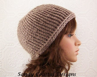 Crochet hat beanie - taupe - handmade Womens Accessories Winter Fashion Winter Accessories by Sandy Coastal Designs - ready to ship