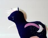 amethyst crystal unicorn - soft sculpture