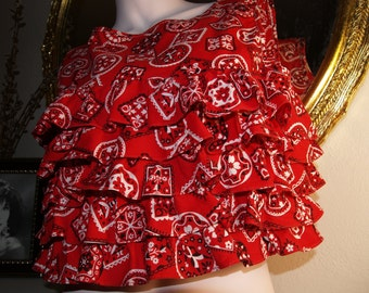 Sweet Red Hot Vintage top - so 60's and So In Style !!!