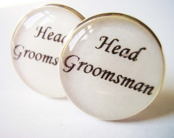 Free Postage, Silver Cufflinks, Head Groomsman Cufflinks, Cufflinks for Men, Cufflinks for Wedding Cufflinks UK, Groomsmen Cufflinks