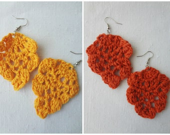 CROCHET PATTERN  Pineapple Earrings Pattern- crochet pineapple, pineapple motif, crochet pattern, crochet earrings, crochet jewelry,