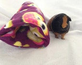 Cozy tunnel for guinea pig,rabbit, ferret, owl fleece, pet hideout, pigaloo, pet sleeping bag. cage accessories, small animal toy, hideout