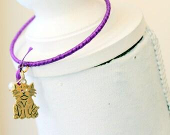 purple cat bangle