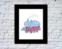 Thomas The Tank Engine: Little Engines Can Do Big Things Color Print