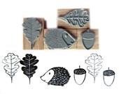 rubber stamps - autmn