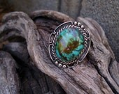 RESERVED  Sterling Silver Kingman Turquoise Ring